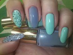 Mint sorbet nail design