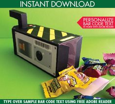 Ghostbuster Trap Box - Ghostbuster Party Favor Box, Gift Card Box, Ghostbusters Birthday - Instant Download DIY Printable PDF Kit by SimplyEverydayMe on Etsy https://www.etsy.com/listing/386075084/ghostbuster-trap-box-ghostbuster-party