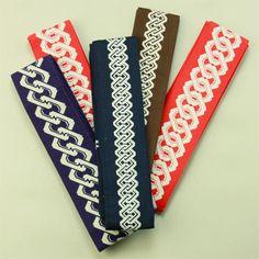 Kaku obi for kimono event / イベント・お祭り・踊りにも 木綿素材 吉原繋ぎの幾何学柄 角帯5本組セット