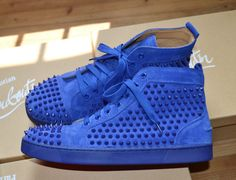 christian louboutin louis spikes blue