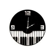 Large Wall Clock Laser Cut Acrylic Black Clock by WoodEnvyDotCom Music Clock, Record Clock, Cd Wall Art, Record Crafts, Wall Clock Wooden, Wall Watch, Black Clocks, Cool Clocks, Clock Decor