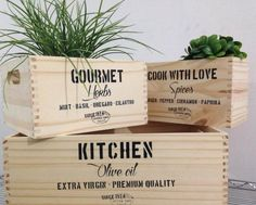 Pallet Crates, Pallet Art, Wood Packaging, Ribbon Box, Diys, Gourmet Cooking, Bird Boxes, Diy Projects To Try, Wood Design