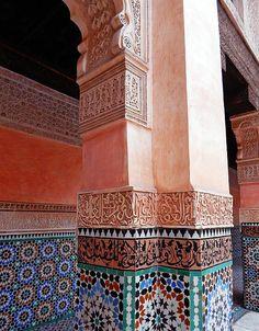 Bahia Palace, Marrakech, featuring it's wonderful decorative arts.