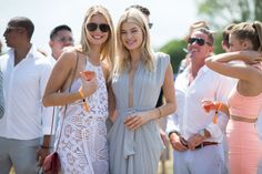 ELLE.com photographer Tyler Joe captures the chicest street style moments from Veuve Cliquot Polo Classic in New York City's Liberty Island, where Hollywood's finest gathered to kick off summer.
