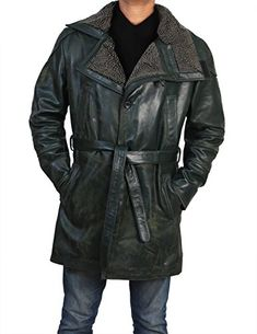 3478e880800 Leather Trench Coat Mens, Leather Coat With Fur, Leather Jackets, Black  Leather, Blade Runner 2049, Hollywood Fashion, Men's Style, Casual Outfits,  ...