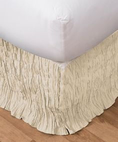 Look at this Ivory Abbey Bed Skirt on #zulily today!