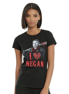 The Walking Dead I Heart Negan Girls TShirt -- You can find more details by visiting the image link.Note:It is affiliate link to Amazon.