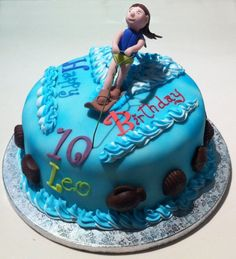 Water Ski Birthday Cake