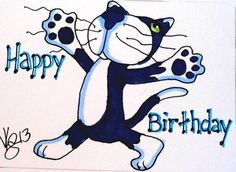 ACEO HAPPY BIRTHDAY KITTY ON EBAY