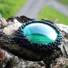 malachite cingari boho dreamcather lace beading by SparkleCingari