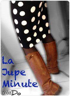 Couture - creadoblog.blog4ever.com TUTO la jupe minute Patron la jupe minute
