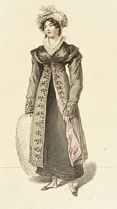 Fashion Plate (Morning Walking Dress), January 1, 1815, LACMA Collections Online