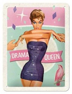 Retro Sign 'Drama Queen'