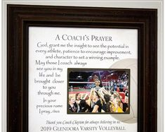 Volleyball Coach Thank You Gift for End of Season Team Gift, Personalized Frame Volleyball Coach Appreciation Gift