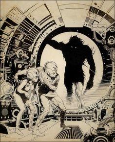 Frank Frazetta, original art for Famous Funnies #214, Sept. 1954