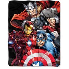 Marvel Avengers Agents of Shield 40 inch x 50 inch Silk Touch Throw, Multicolor