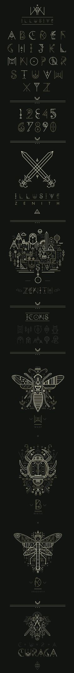 Illusive by Petros Afshar (font possibility/inspiration)