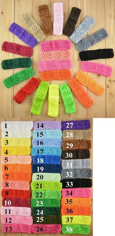 Hair Accessories 18786: 100 Stretchy Crochet Headbands Diy Girls Hair Bows Accessories 38 Color Mix -> BUY IT NOW ONLY: $30 on eBay!