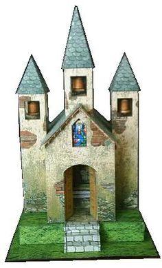 Three Bells Chapel paper model by Papermau FREE SITE