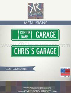 Custom Garage Metal Street Sign $14.95 USD