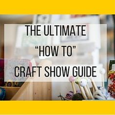We just welcomed the year 2016 and the next couple of months will be the time to start preparing to showcase your handmade products to craft shows. Craft Business, Business Tips, Crochet Craft Fair, Craft Fair Displays, Craft Booths, Display Ideas, Budget Help, Craft Stalls, Arts And Crafts House