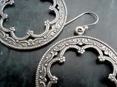 Silver Hoop earrings Moroccan earrings office by Gypsymoondesigns, $20.00. I would like to find the circles as components