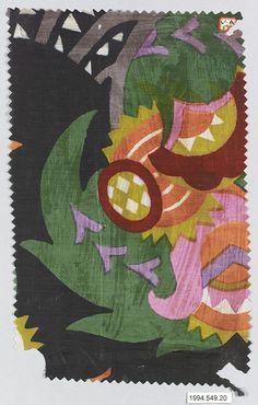 Textile sample Wiener Werkstätte
