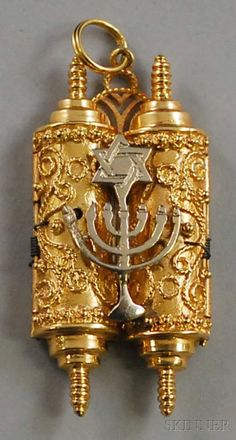 14kt Bicolor Gold Judaica Pendant/Charm,