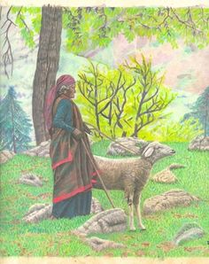 Vashist Woman with Sheep
