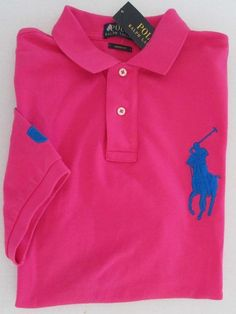 NWT Polo Ralph Lauren Custom Fit Big Pony Logo Short Sleeve Polo Shirt Size M #RalphLauren #PoloShirt