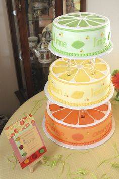 Citrus Party - orange lemon and lime cake