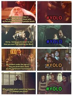 harry potter humor | Harry Potter YOLO