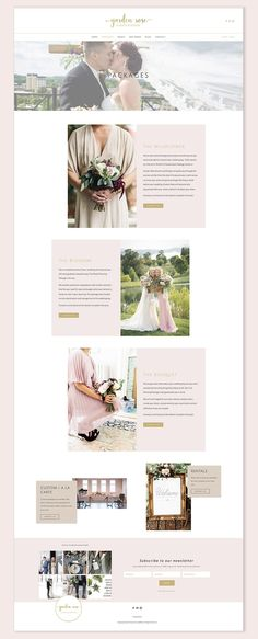 Packages page | Garden Rose Events and Design website | Squarespace web design by Jodi Neufeld Design