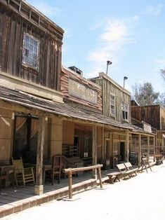 """In Oklahoma, as throughout the """"wild west"""", storefronts like these were built up in pioneer towns.Perhaps a bank and a general store for the museum? Old West Town, Old Town, Westerns, Oklahoma Attractions, Old Western Towns, Into The West, American Frontier, Le Far West, Ghost Towns"""