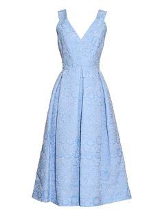 Fabrizia cloqué pleated dress | Erdem | MATCHESFASHION.COM (Chất liệu đẹp)