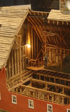 Miniature Barn..,A Scale Model Of Builder For Actual Farm Barn
