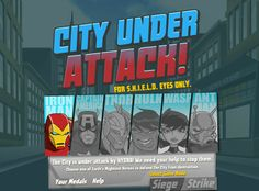 The Avengers City Under Attack game online