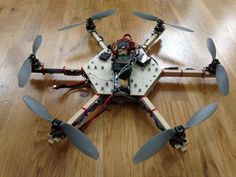 DIY hexacopter speed build and maiden flight. (wooden frame)!