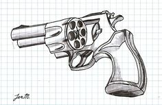 Found a 6 shooter gun by reggiemiah on DeviantArt 3d Pencil Drawings, Cool Art Drawings, Revolver Tattoo, Front Shoulder Tattoos, Knife Drawing, 3d Sketch, Sick Tattoo, Wood Burning Art, Leather Art