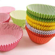 Colourful Muffin Cases Manuela - MiaDeRoca Cupcake Cases, Bunt, Home Accessories, Muffin, Desserts, Color, Happy, Paper, Stocking Stuffers