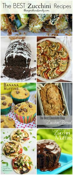 The BEST Zucchini Recipes www. Vegetable Dishes, Vegetable Recipes, Best Zucchini Recipes, Recipe Zucchini, Zucchini Bread, Good Food, Yummy Food, The Best, Food To Make