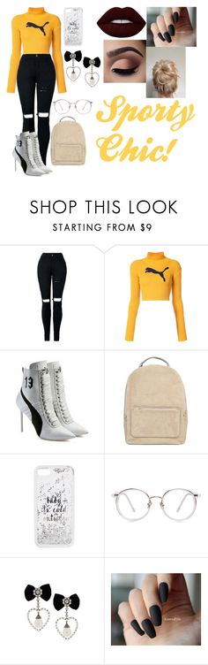 """""""Sporty Chic!"""" by lauren-paul-sets ❤ liked on Polyvore featuring Puma, Kate Spade and Lime Crime"""
