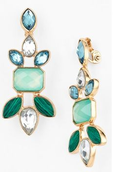 green and blue drop earrings http://rstyle.me/n/wvkcibna57