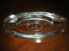 Alfred Dunhill crystal cigar ashtray NIB #Dunhill #Ashtrays