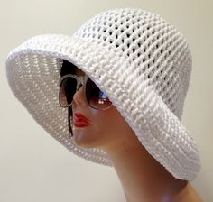 Wide Brimmed Cotton Summer Hat by Africancrab on Etsy, $22.00