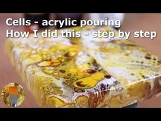 Acrylic pouring cells with pva and floetrol - how to and recipe - YouTube