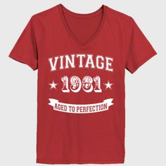 Vintage 1961 Aged To Perfection - Ladies' V-Neck T-Shirt