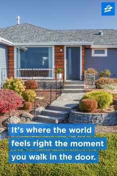 It's where the world feels right the moment you walk in the door.