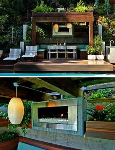 jamie durie outdoor deck and built in seating Indoor Outdoor Living, Outdoor Rooms, Outdoor Dining, Outdoor Decor, Dining Area, Dining Room, Outdoor Seating, Outdoor Ideas, Backyard Patio Designs