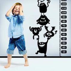 Vinilo Decorativo Medidor Infantil Monstruos #viniloscasa #vinilosdecorativos #pegatinas #adhesivos #decoracioninteriores #pegatinasparedes #decoracionparedes #decorarparedes #home #followme #follow #casas #sticker #stickers #latiendadelaspegatinas #vinilosinfantiles Paint Designs, Wall Vinyl, Kids Rooms, Silhouettes, Products, Ideas, Bonbon, Shape, Decorating Bedrooms